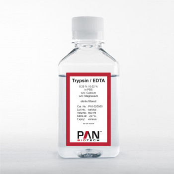 Trypsin 0.25 %/EDTA 0.02 % in PBS, w/o: Ca and Mg
