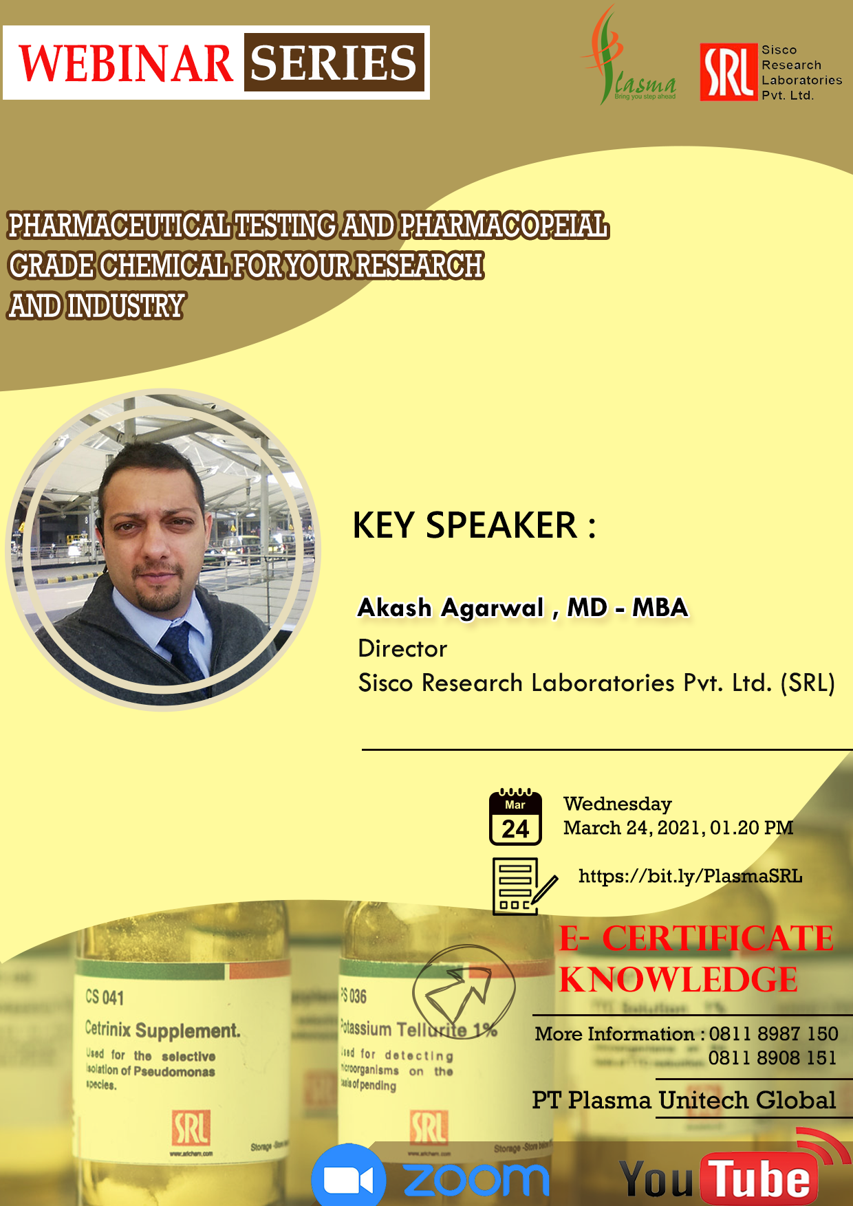 Webinar Pharmaceutical Testing and Pharmacopeial Grade Chemical for Your Research and Industry
